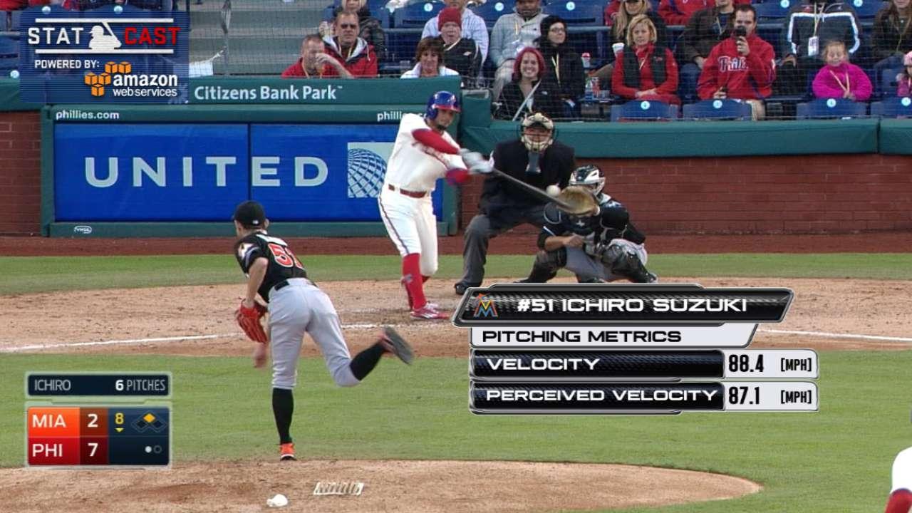 Ichiro Makes Mlb Debut As A Relief Pitcher Mlb Com