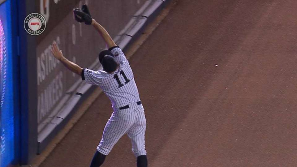 Gardner's leaping grab