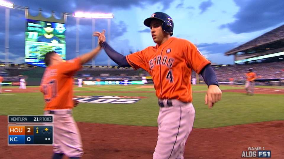 Astros score two in the 1st