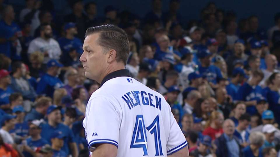 Hentgen throws first pitch