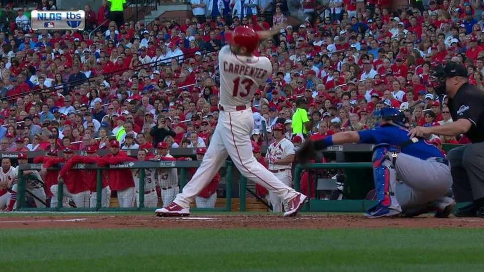 Carpenter's leadoff homer