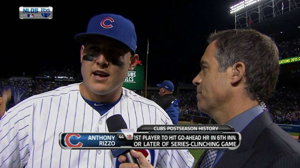 Rizzo on Cubs advancing to NLCS  a0b8202f592