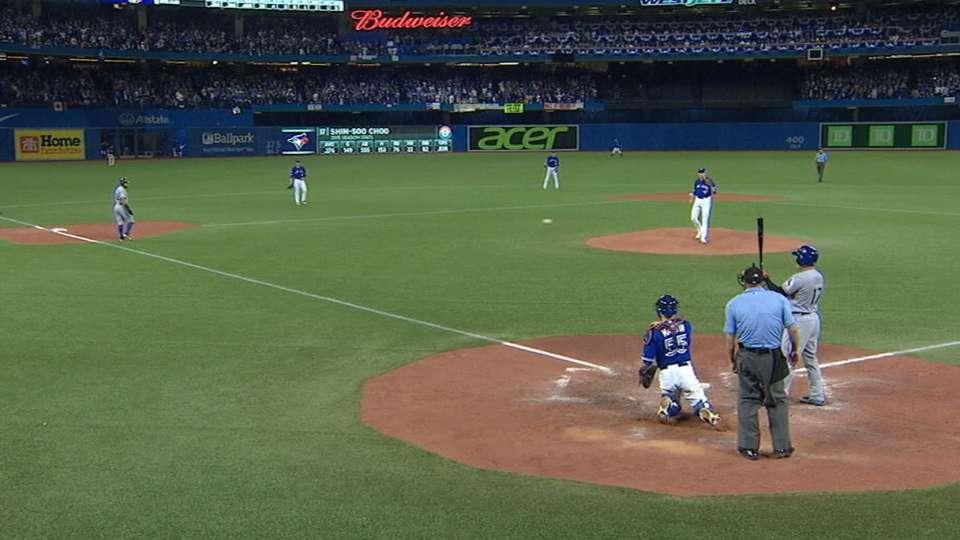 Rangers, Blue Jays on deflection