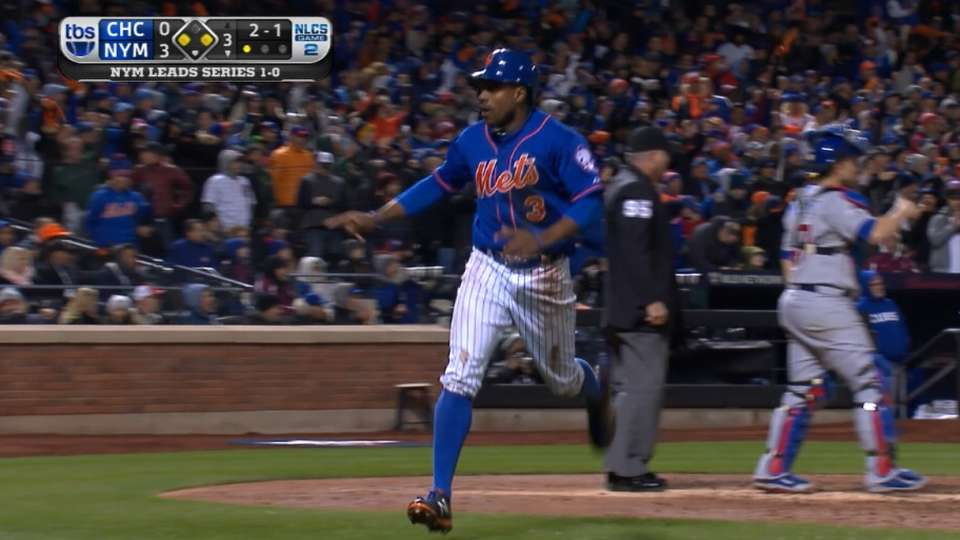 Granderson manufactures a run