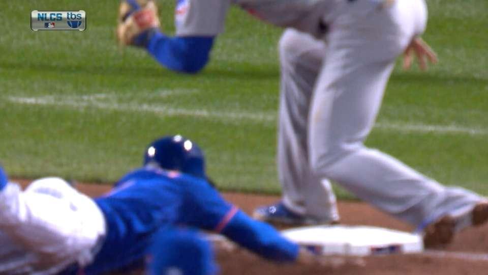 Granderson steals third base