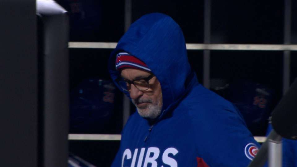 Maddon on chilly conditions