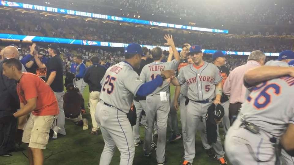 Mets celebrate NLDS win