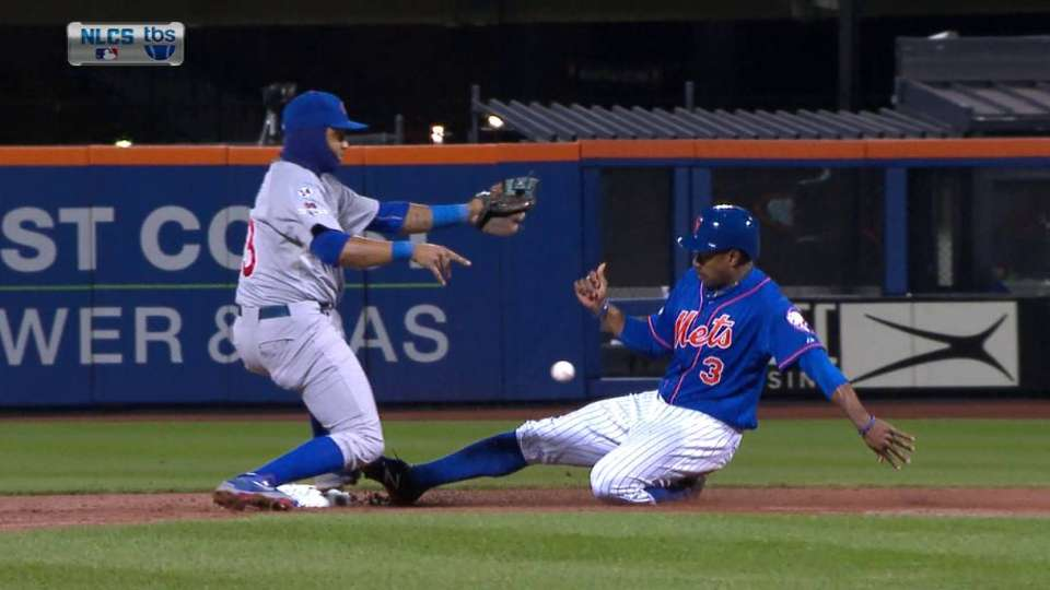 Granderson steals second
