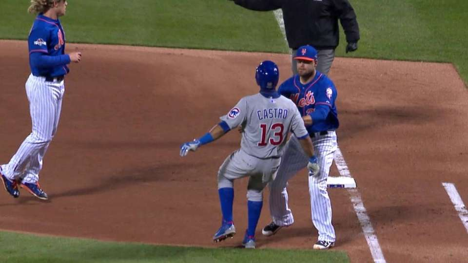 Duda gets the out at first