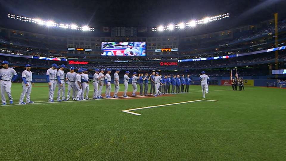 Royals introduced before Game 3