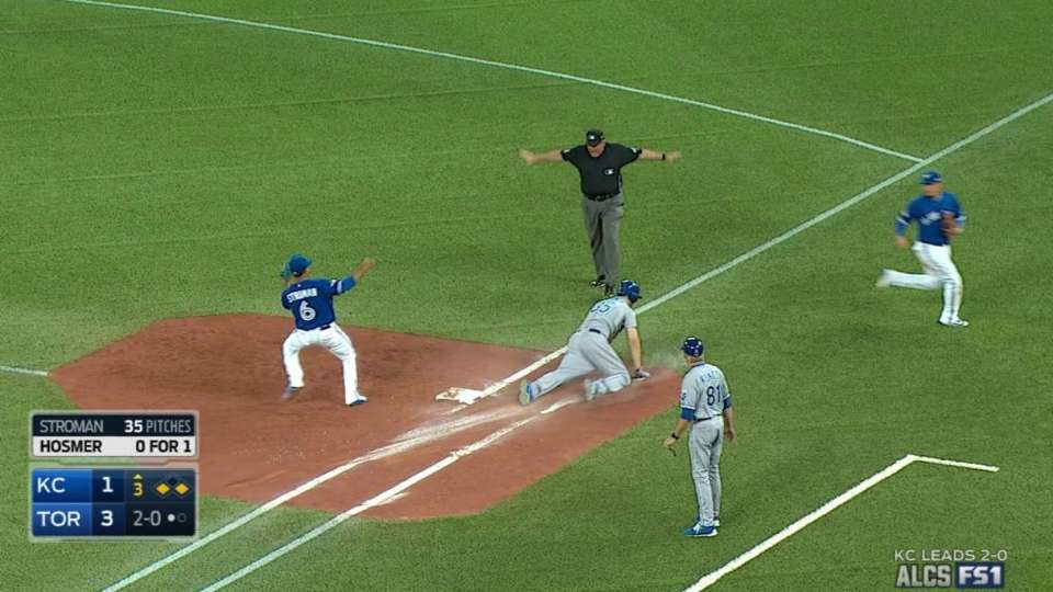 Hosmer's RBI forceout