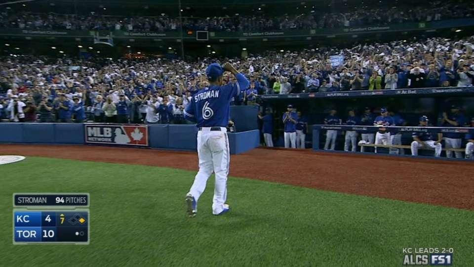Stroman receives ovation