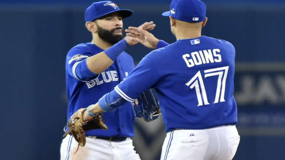 Goins on gift from Bautista