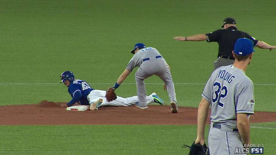 Donaldson steals second