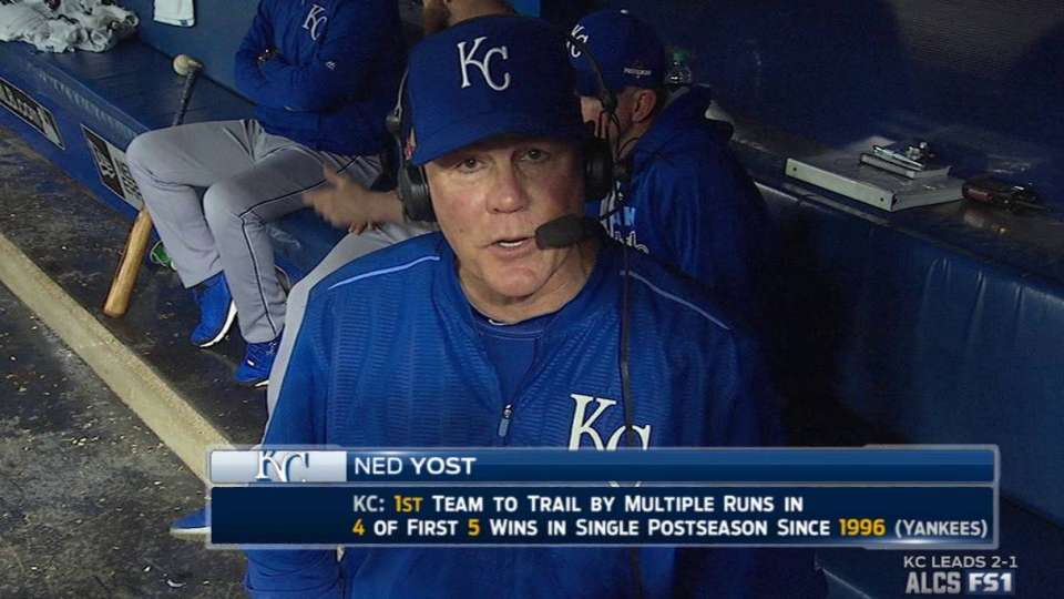 Yost on Young's pitching