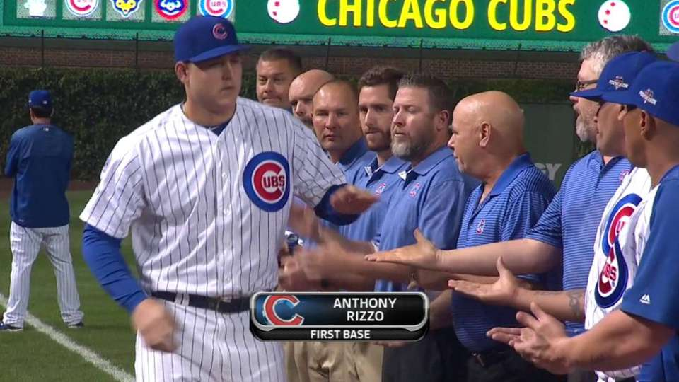 Maddon, Cubs' lineup introduced