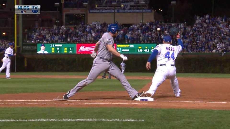 Murphy beats out infield hit
