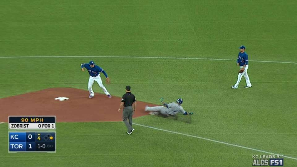 Goins starts double play