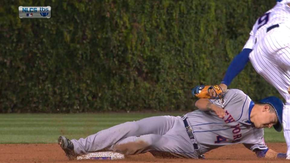 Flores shaken up on steal