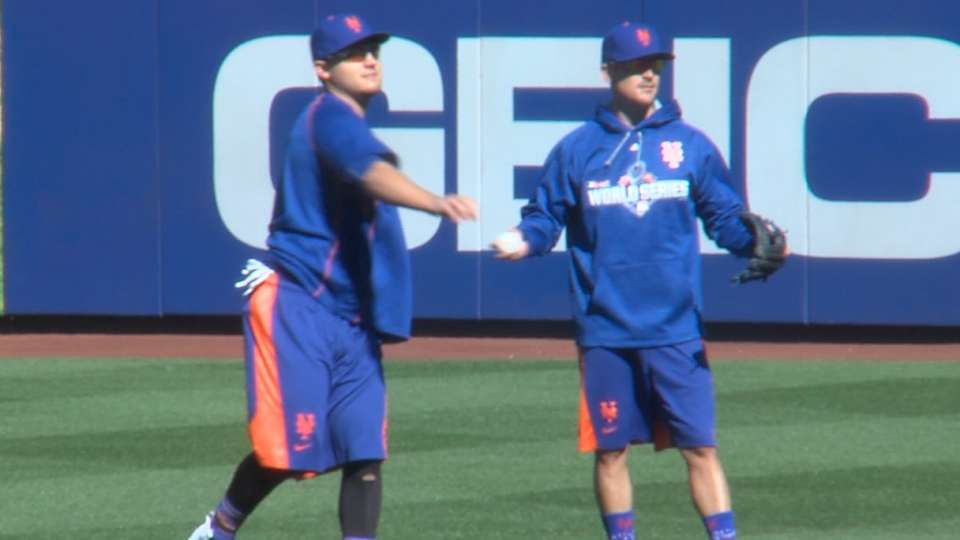 Mets work out at Citi Field