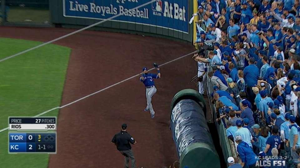 Bautista's running grab