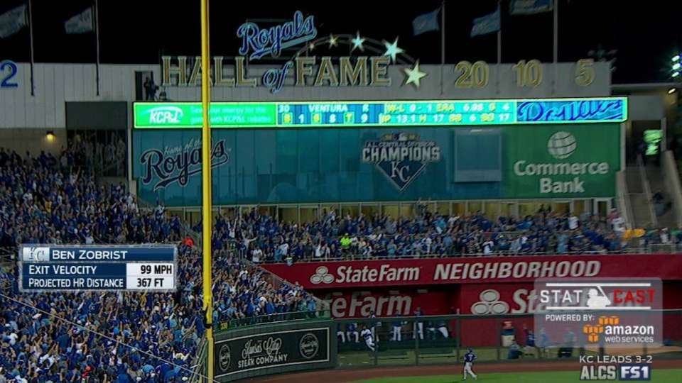 Statcast: Zobrist's home run