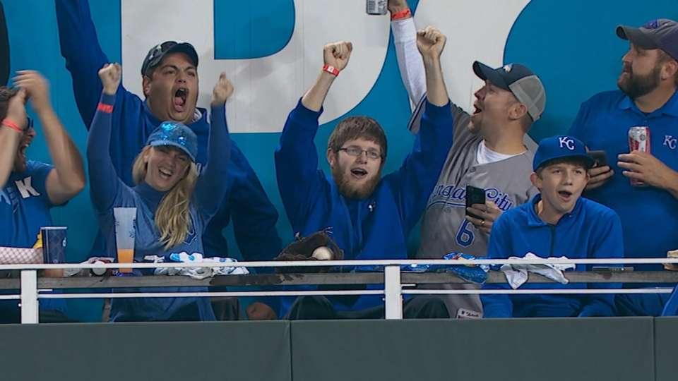 Fan on catching Moustakas' homer