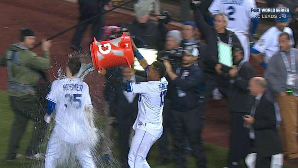 Hosmer doused after walk-off