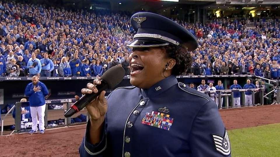 TSgt. sings 'God Bless America'