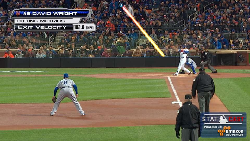 Statcast: Wright's two-run homer