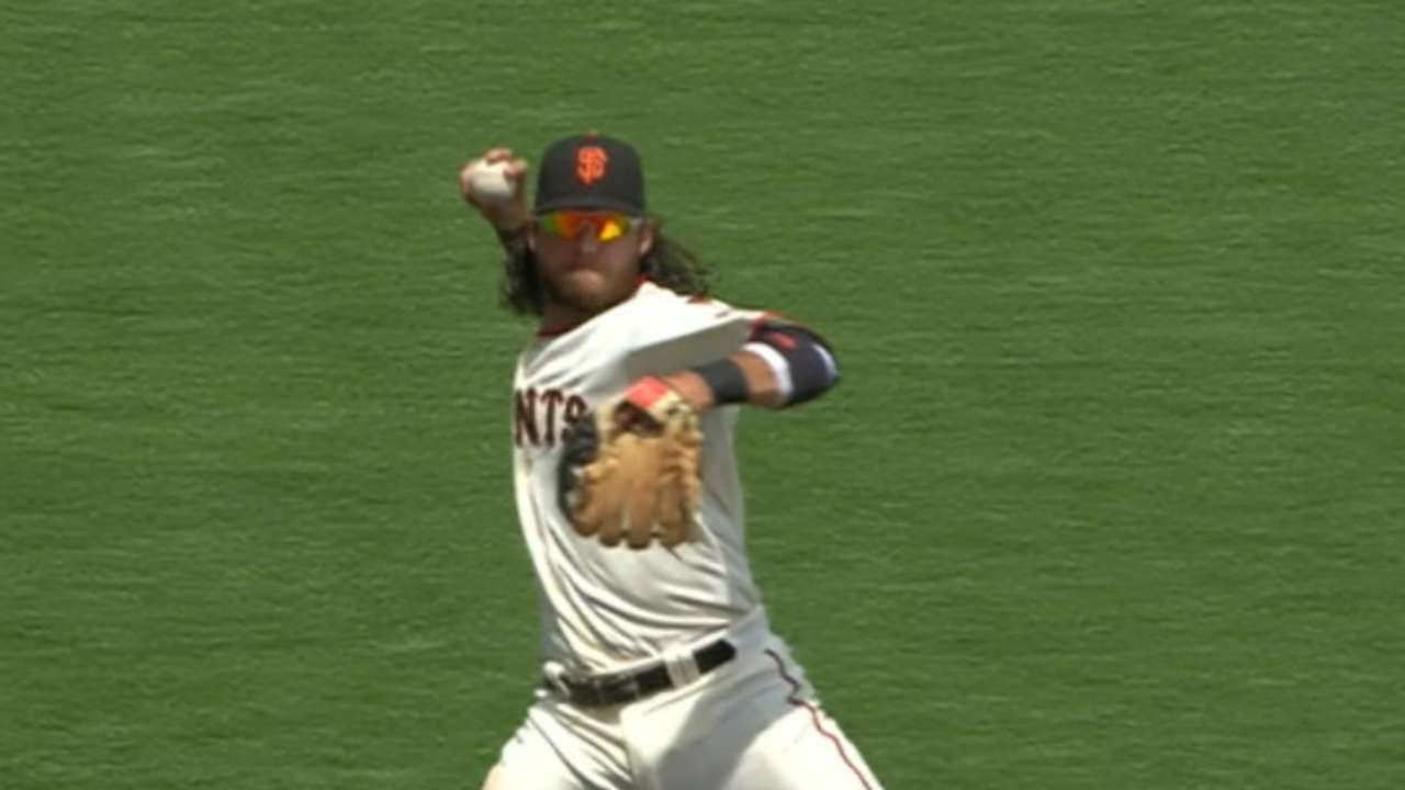 brandon crawford wins gold glove at shortstop mlb com