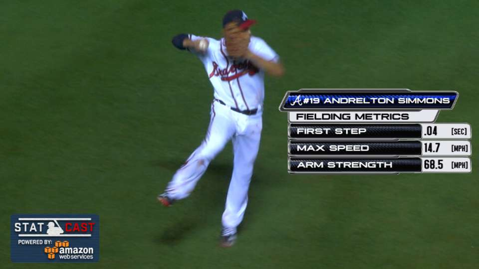 Statcast: Simmons' leaping throw