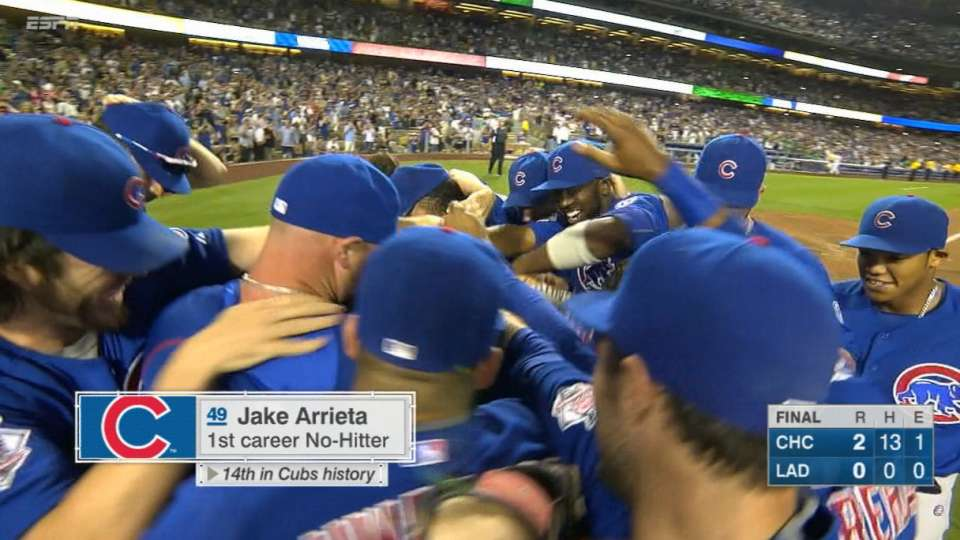 Arrieta no-hits Dodgers