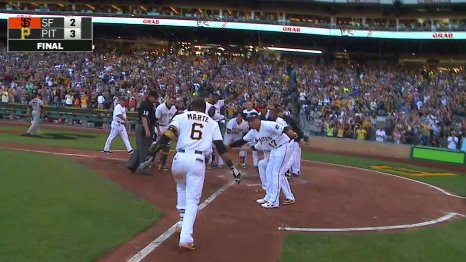 Marte's walk-off home run