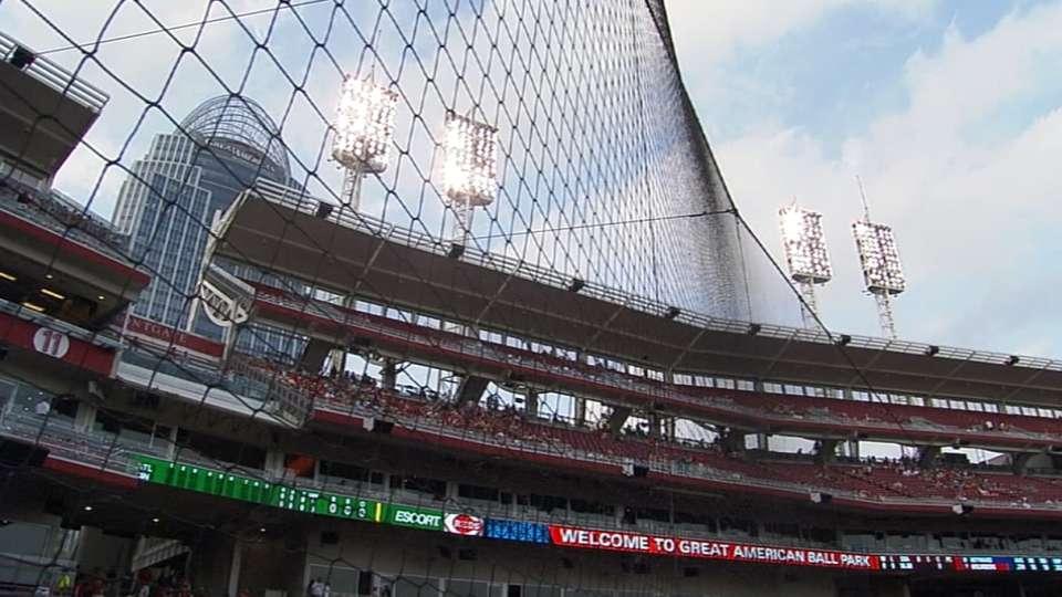 Manfred on stadium netting