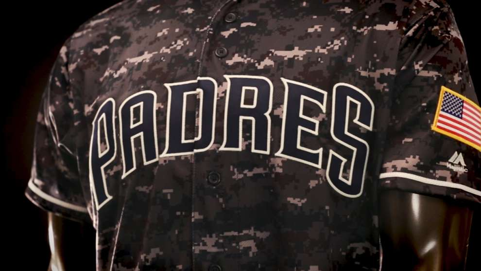 19c30591c35 Padres unveil blue camouflage jerseys for 2016