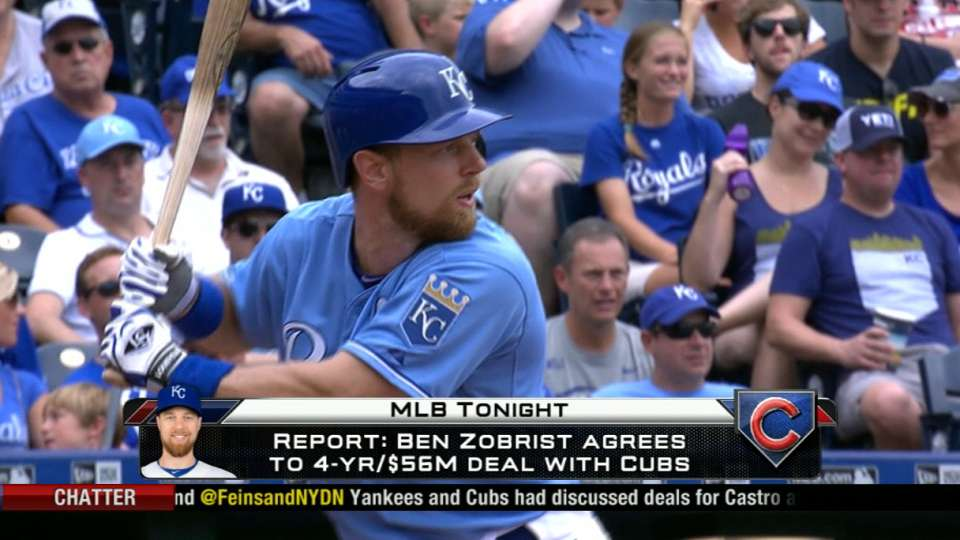 Zobrist in, Castro out for Cubs