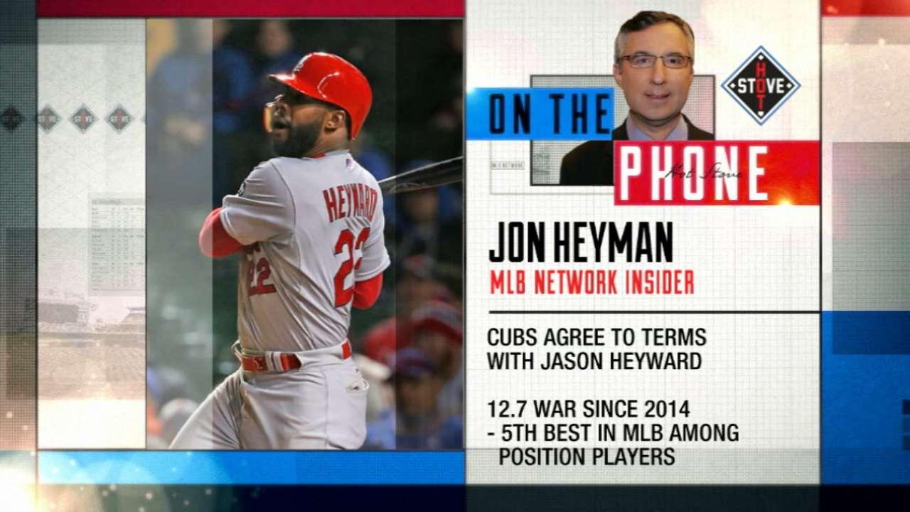 Heyward, Cubs reach agreement
