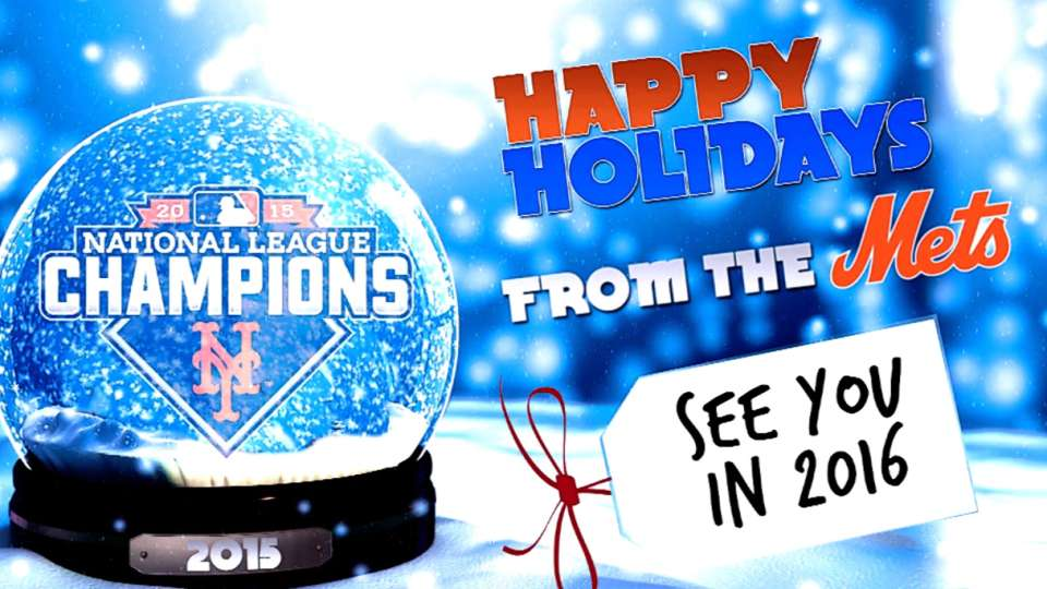 Happy holidays from the Mets