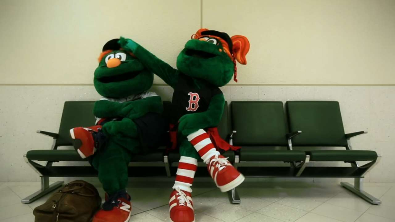 Red Sox Introduce New Mascot Tessie Mlb Com