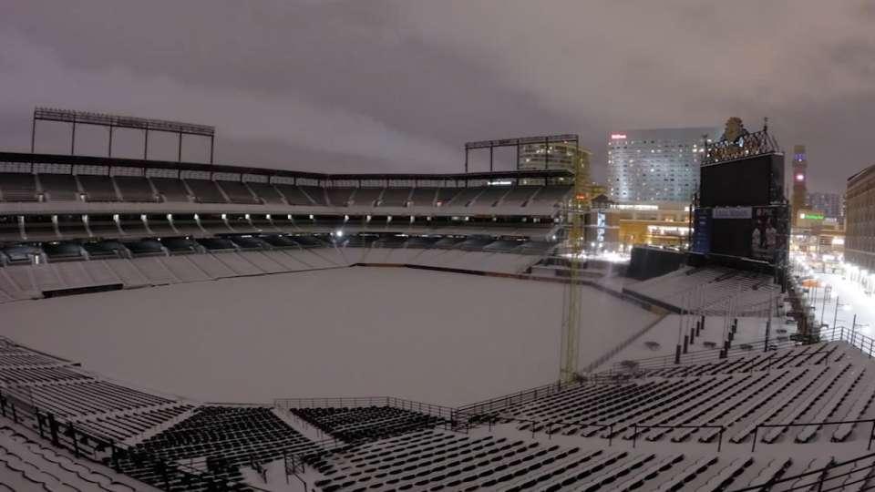 Oriole Park blizzard time lapse
