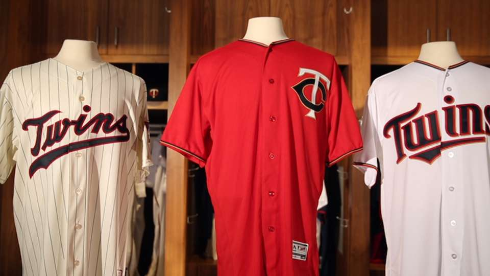 Twins red home alternate jersey
