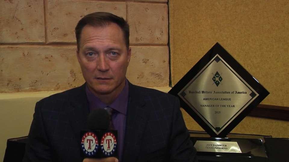 Banister accepts MOY Award