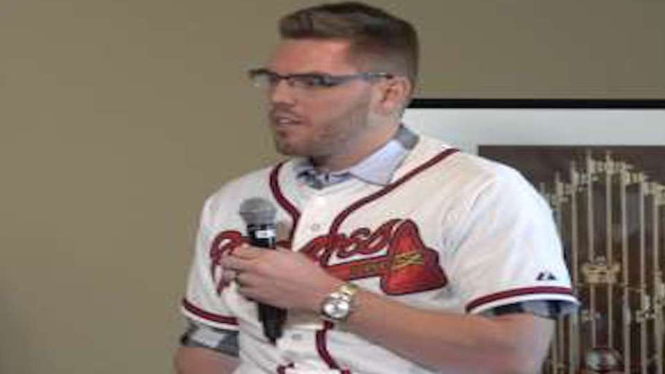 Braves players gather at FanFest