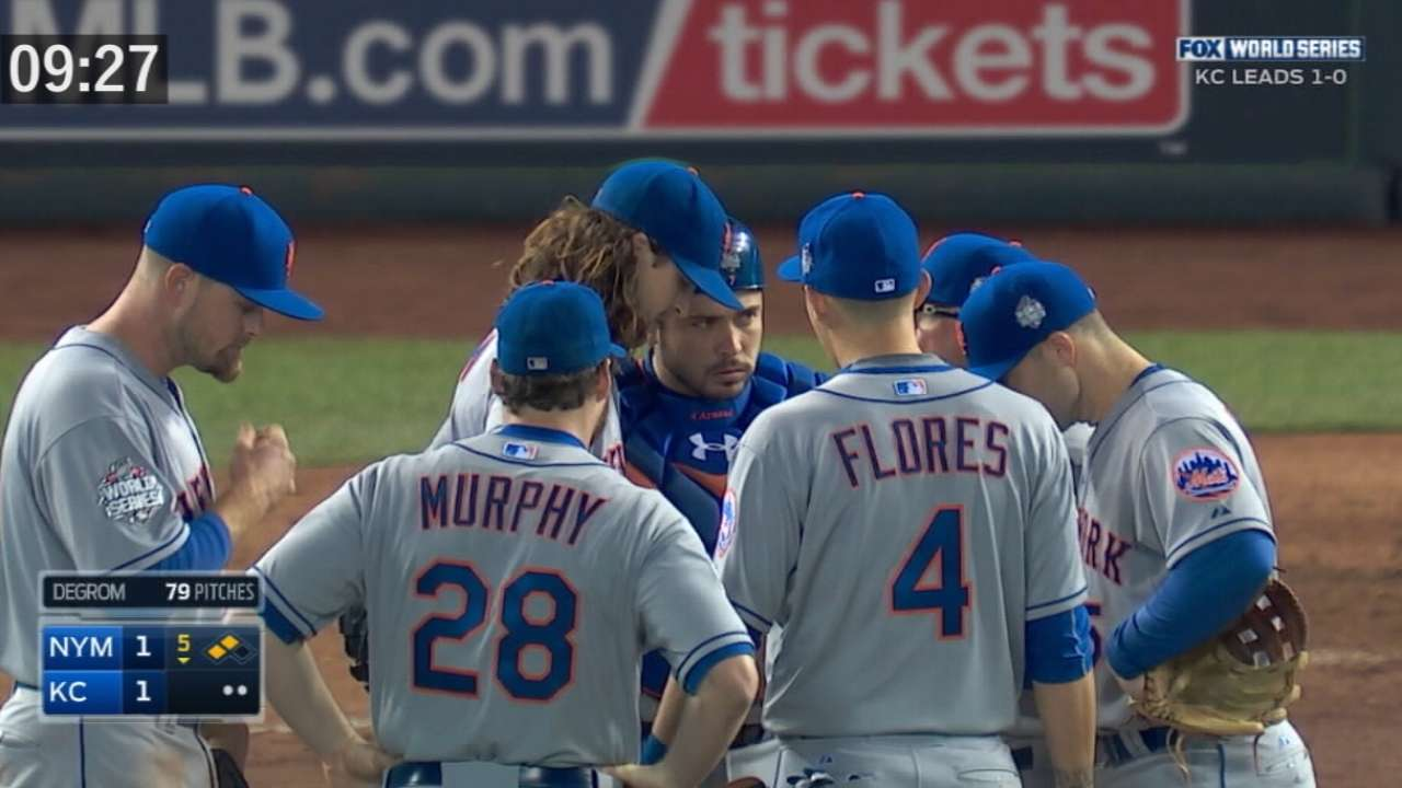 Mound visits timed from 2015 World Series for new pace of