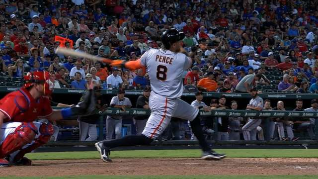 Giants Hunter Pence Out With Achilles Injury San Francisco