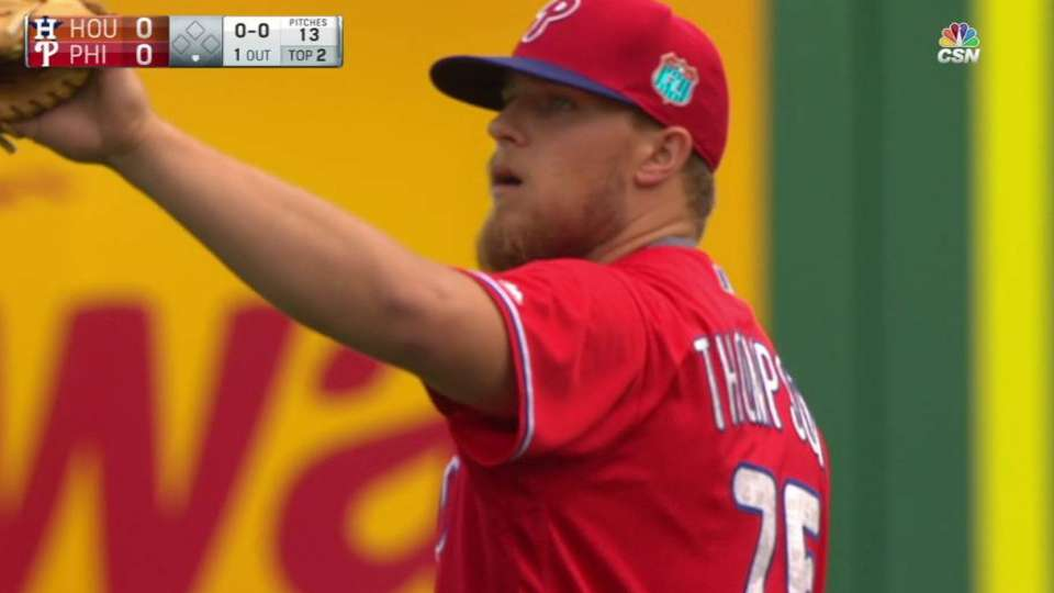 Thompson strikes out Duffy