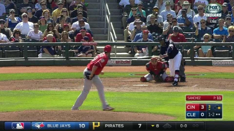 Sanchez strikes out Davis