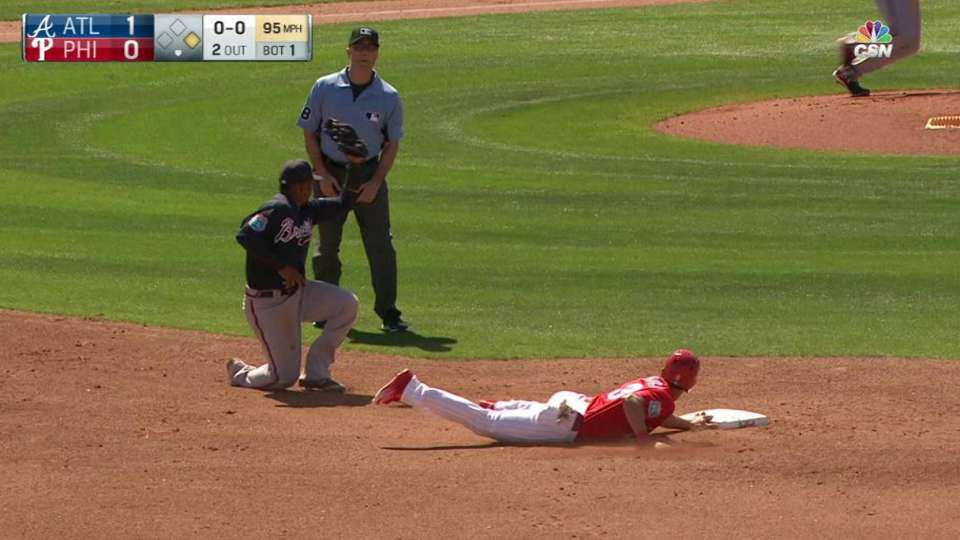 Schlehuber nabs runner at second