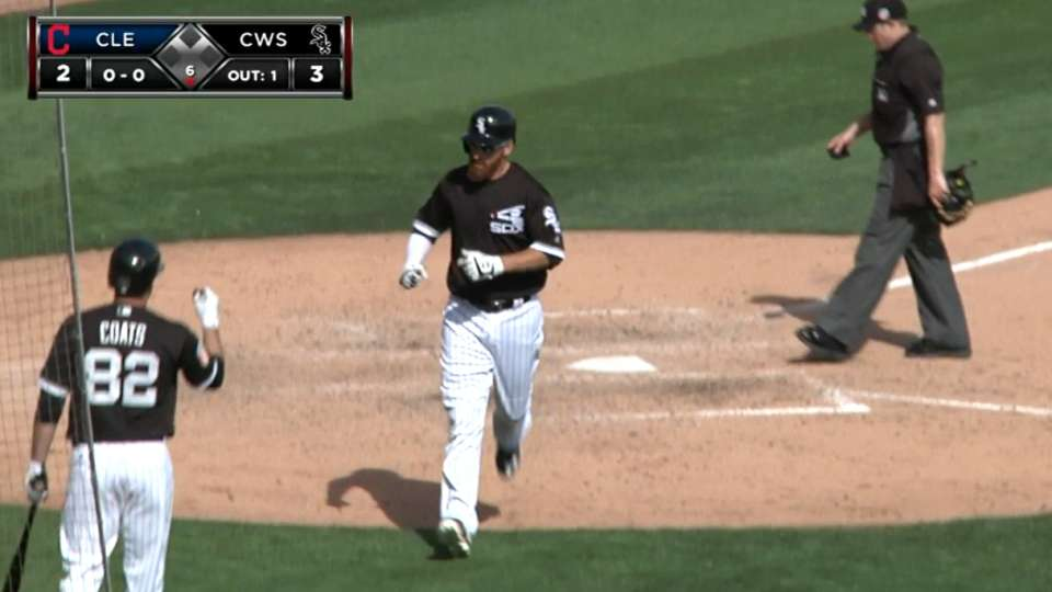 LaRoche homers in the 6th